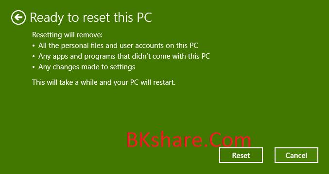 Hướng dẫn Reset Windows 10 về trạng thái ban đầu