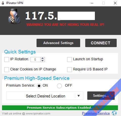 IPinator VPN Full Key mới nhất - Phần mềm ẩn địa chỉ IP máy tính